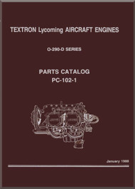 Lycoming O-290-D Aircraft Engine Parts Manual   PC-102-1 - January 1988