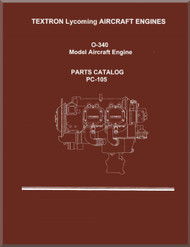 Lycoming O-340 Aircraft Engine Parts Manual   PC-105