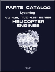 Lycoming VO-435, TVO-435 Series  Helicopter  Engine Parts Manual   PC-110 -