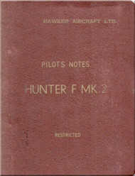 Hawker Hunter F Mk 2   Aircraft  Pilot's Notes Manual