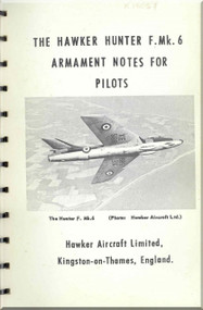 Hawker Hunter F.Mk.6  Aircraft  Armament Pilot's Notes Manual