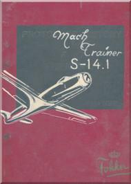 Fokker S-14.1  Aircraft  Pilot Technical Description  Manual -  ( Dutch  Language ) -
