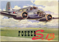 Fokker S-13  Aircraft  Technical Brochure  Manual -  ( English Language )