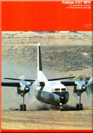 Fokker  F-27  RFV Technical Brochure   Manual - 1979