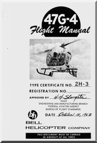 Bell Helicopter 47 G-4 Flight  Manual - 1963