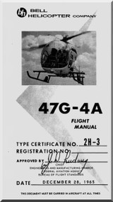 Bell Helicopter 47 G-4A Flight  Manual - 1965