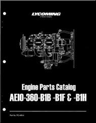 Lycoming AEIO-360--B1B-B1F -B1H Series Aircraft Engine Parts Manual   PC-406-4