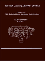 Lycoming O-540- F1B5 Aircraft Engine Parts Manual   PC-515-2