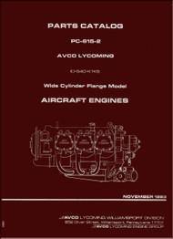 Lycoming IO-540- K1K5 Aircraft Engine Parts Manual   PC-615 -2