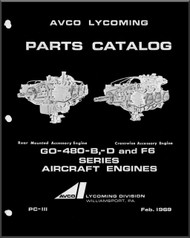 Lycoming GO-480-B, D and F6 Series Aircraft Engine Parts Manual   PC-III