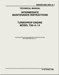 Allison T56-A-14 Aircraft Engine Depot Maintenance Manual 02B-5DD-6-1 -1998