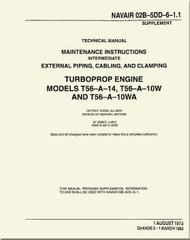 Allison T56-A14, -10W. -10WA , Aircraft Engine Maintenance Instructions   Manual 02B-5DD-6-1.1  -1972
