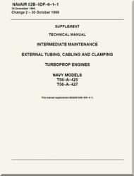 Allison T56-425,  427 ,  Aircraft Engine Maintenance Instructions   Manual 02B-5DF-6-1-1  - 1988