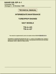 Allison T56-425,  427 ,  Aircraft Engine Maintenance Instructions   Manual 02B-5DF-6-1 - 1988