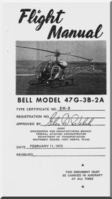 Bell Helicopter 47 G-3B-2A Flight  Manual