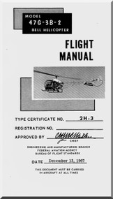 Bell Helicopter 47 G-3B-2 Flight  Manual - 1967