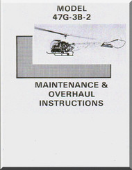 Bell Helicopter 47 G-3B-2  Maintenance Overhaul   Manual   - 1968