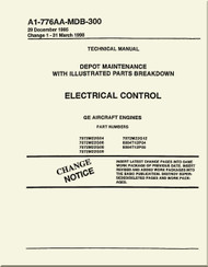GE F404-GE-400 / 402  Aircraft Turbofan Engine Depot Maintenance with Illustrated Parts Breakdown  Electrical Control  Manual A1-776AA-MDB-300