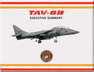 Mc Donnell Douglas TAV-8 B  Aircraft Executive Summary Technical Brochure Manual -