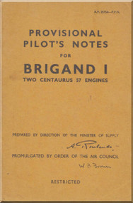 Bristol Brigand I Aircraft  Pilot's Notes Manual A.P. 2575A-P.P. N.