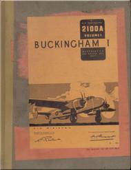 Bristol Buckingham I Aircraft  Servicing Handbook  Manual A.P. 2100A -1944