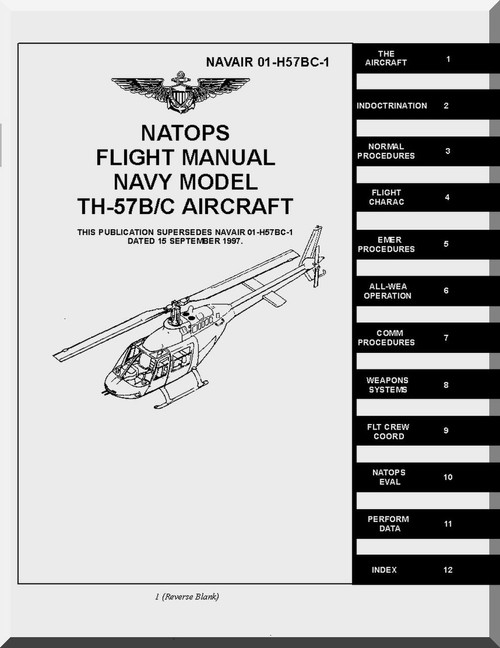 Bell Helicopter TH-57 A/ B Helicopter Flight Manual