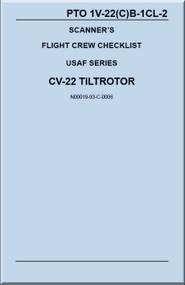 Boeing / Bell Helicopter CV-22  TiltRotor  Scanner's  Flight Crew Checklist   Manual  1V-22(C)B -1CL-2