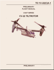 Boeing Aircraft Bell Helicopter CV-22 TiltRotor  Preliminary Flight  Manual  TO 1V-22(C)A-1