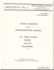 Sikorsky HH-52A  Helicopter Engine Flight Handbook and Standardization  Manual   ,  CG-384-1 CGTO  1H-52A-1