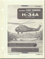 Sikorsky H-34A Helicopter Flight Manual - T.O. 01H-34A-1 - 1955