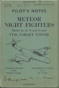 Gloster Meteor Night Fighters    Aircraft  Pilot's Notes Manual A.P. 2210L, M, N, P, V -P.N.
