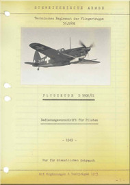Morane Saulnier MS-406 Aircraft Technical  Manual ( German  Language )