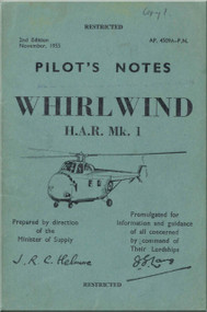 Westland WhirlWind H.A.R. Mk.1  Helicopter Pilot's Notes Manual - AP 4509A-PN