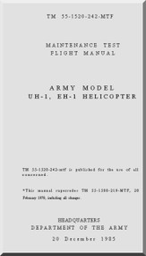 Bell Helicopter UH-1H / EH-1  Flight Manual Maintenace Test - TM 55-1520-242- MTF