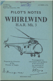 Westland WhirlWind H.A.R. Mk.3 Helicopter Pilot's Notes Manual - AP 4509C-PN