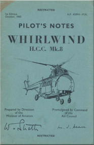 Westland WhirlWind H.A.R. Mk.8 Helicopter Pilot's Notes Manual - AP 4509H-PN