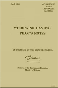 Westland WhirlWind H.A.S. Mk.7 Helicopter Pilot's Notes Manual - AP 4509G-PN