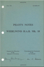 Westland WhirlWind H.A.R. Mk.10 Helicopter Pilot's Notes Manual - AP 4509K-PN