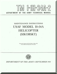 Sikorsky H-34 A Helicopter Maintenance Instruction  Manual 1-1H-34A-2