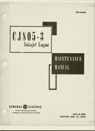 General Electric CJ805-3  Aircraft Turbo Jet  Engine Maintenance  Manual -1960 -  GEI 44526