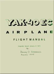 Yakovlev Yak-40  Aircraft Airplane Flight  Manual  ( English  Language )