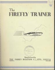 Fairey Firefly  Trainer   Aircraft Technical Brochure Manual -