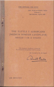 Fairey Battle I   Aircraft  Manual -  Vol 1 -  Air Publication 1527 A - 1939 - 178 pages