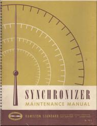 Hamilton Standard Synchronizer Maintenance Manual - N.ro 176 A - 1952
