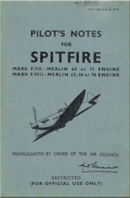 Supermarine Spitfire F. VII i & F VIII   Aircraft  Pilot's Notes Manual  AP 1565 G & H PN  -