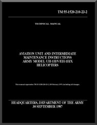Bell Helicopter UH-1X / EH-1H / X   Aviation Unit and intermediate Maintenace Instructions Manual Maintenace  - TM 55-1520-210-23-2