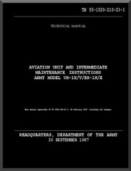Bell Helicopter UH-1X / EH-1H / X   Aviation Unit and intermediate Maintenace Instructions Manual Maintenace  - TM 55-1520-210-23-3
