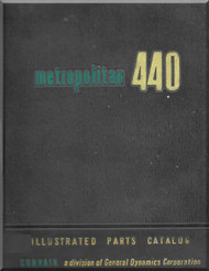 Convair 440 Aircraft Illustrated Parts Catalog  Manual -