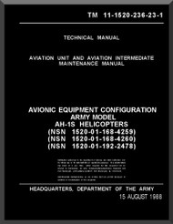 Bell Helicopter AH-1 P E F Technical  Manual   - TM 11-55-1520-236-23-1