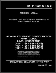 Bell Helicopter AH-1 P E F Technical  Manual   - TM 11-55-1520-236-23-2